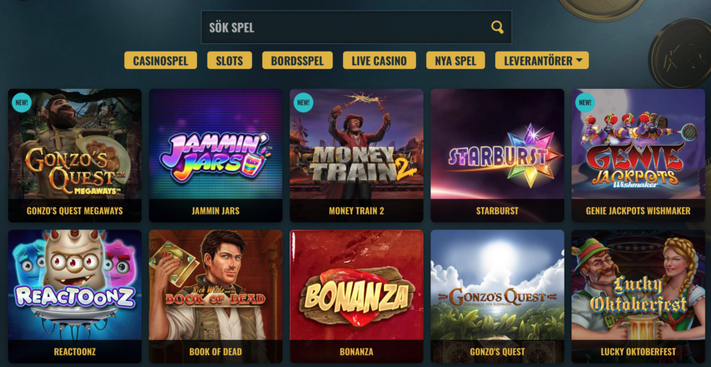 no account casino spelupplevelse