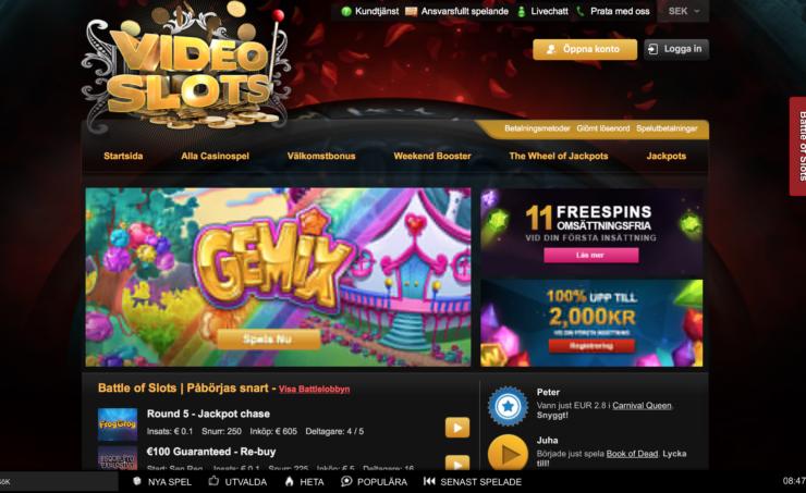 Videoslots bäst bonus casino recension
