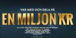dela på en miljon kronor